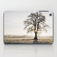 Sunrise behind a tree on a frosty morning. Norfolk, UK. iPad Case