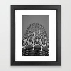 Marina City Tower Photo, Chicago, Architecture Framed Art Print