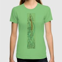 Bramble Fox Womens Fitted Tee Grass SMALL