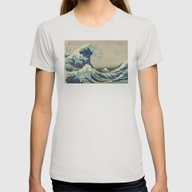 Great Wave Off Kanagawa … Womens Fitted Tee Silver X-LARGE