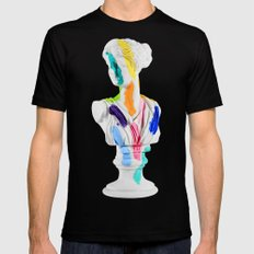 A Grecian Bust With Color Tests Black Mens Fitted Tee SMALL