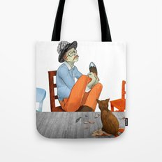 Spotted Crow Takes His Medicine Tote Bag