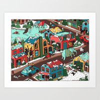 This Place is a Zoo! Art Print