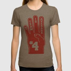 Foam Finger Womens Fitted Tee Tri-Coffee SMALL