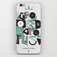 Crooked Typography iPhone & iPod Skin
