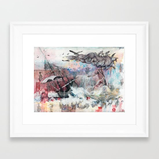 Graceful Attempt Framed Art Print