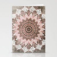 BOHOCHIC MANDALA IN CORAL Stationery Cards