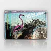 Palm trees and flamingos Laptop & iPad Skin