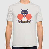 Ping Pong Panthers Mens Fitted Tee Silver SMALL