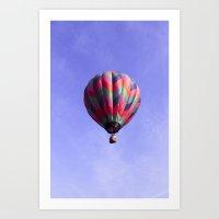 Fair Sailing - Hot Air B… Art Print