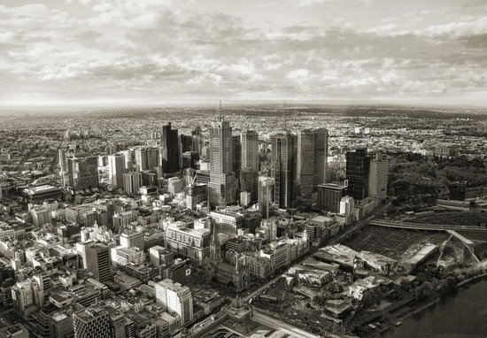 Melbourne City Art Print