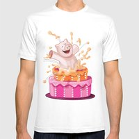 Party Mens Fitted Tee White SMALL