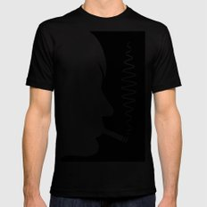 Why'd You Only Call Me When You're High? SMALL Black Mens Fitted Tee