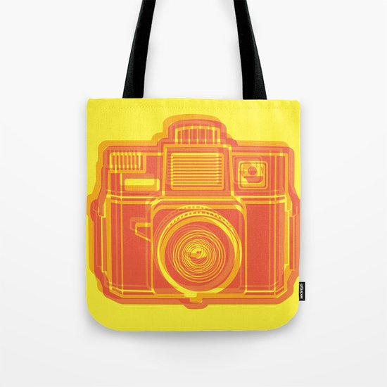 I Still Shoot Film Holga Logo - Yellow & Red Tote Bag