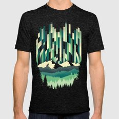 Sunrise in Vertical - Winter Blues Mens Fitted Tee Tri-Black SMALL