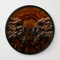 War Eagles Wall Clock