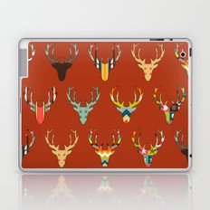 retro deer head russet Laptop & iPad Skin