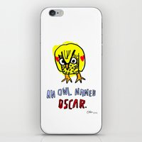 AN OWL NAMED OSCAR iPhone & iPod Skin