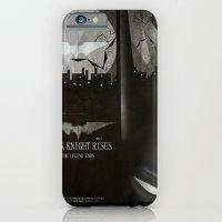 iPhone & iPod Case featuring dark knight rises movie fan poster by danvinci