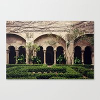 Van Gogh's Courtyard in St Remy Canvas Print