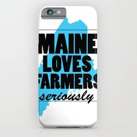 iPhone & iPod Case featuring Maine loves farmers, seriously. by New Rustic Future