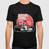 Ayrton Senna - 1993 Adelaide Mens Fitted Tee Tri-Black SMALL