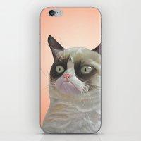 grumpy-cat-Orange iPhone & iPod Skin