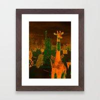 What in the giraffe Framed Art Print