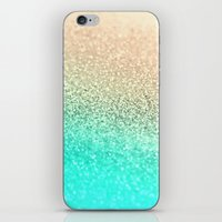 GOLD AQUA iPhone & iPod Skin