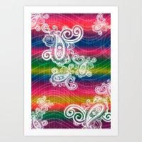 Paisley Wave Dream Art Print
