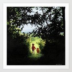 Hundred Acre Wood Art Print