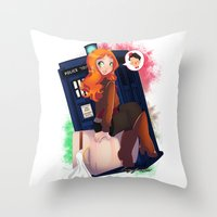 Doctor Who - Amy Pond Throw Pillow