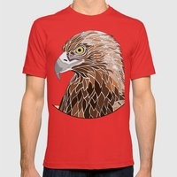 Bird of Prey Mens Fitted Tee Red SMALL