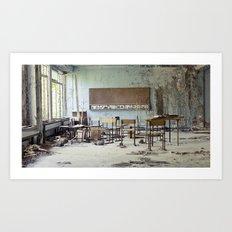 Chernobyl - школа Art Print