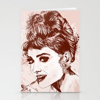 Love for Audrey Stationery Cards