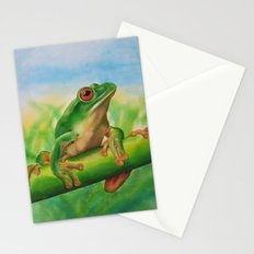 Green Treefrog Stationery Cards