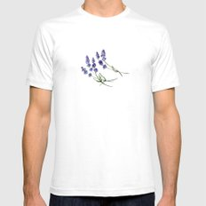 Lavender flowers White Mens Fitted Tee SMALL