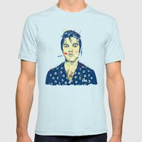 WTF? ELVIS MORNING PARTY Mens Fitted Tee Light Blue SMALL