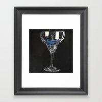 Whale Margarita  Framed Art Print