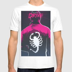 Drive (Night Version) White SMALL Mens Fitted Tee