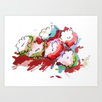 Saturated Flowers Art Print