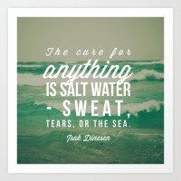 Salt Water Cure Art Print