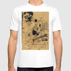 dithering 17 White SMALL Mens Fitted Tee