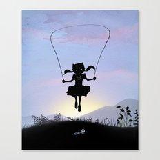 Cat Kid Canvas Print