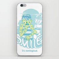 Smile It's contagious :D iPhone & iPod Skin