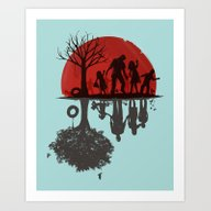 A Family Once Art Print