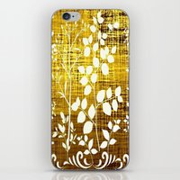 White Leaves Decor On Go… iPhone & iPod Skin