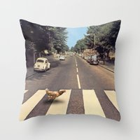 Why did the chicken cross THE road? Throw Pillow