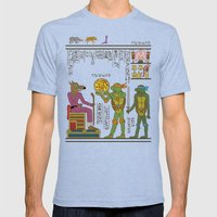 hero-glyphics: TMNT Mens Fitted Tee Tri-Blue SMALL