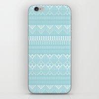 Weave (blue) iPhone & iPod Skin